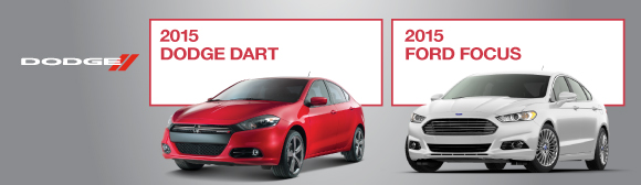 Compare 2015 Dodge Dart to 2015 Ford Focus
