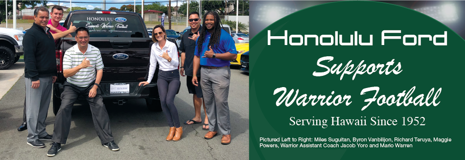 Honolulu Ford Supports Warrior Football