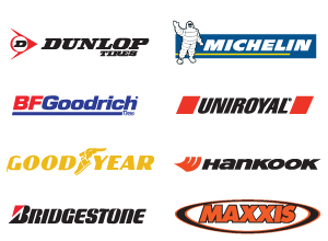 We Carry Top Tire Brands